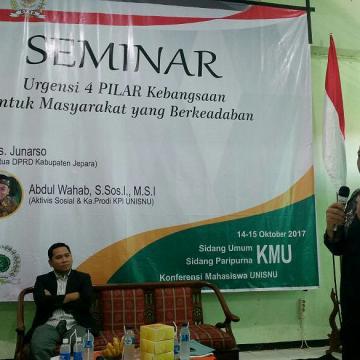 DPM Unisnu Gelar Seminar Bersama Ketua DPRD Jepara
