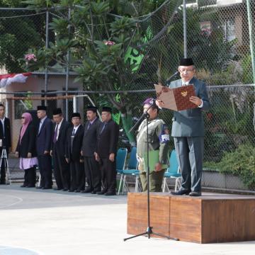 HUT ke-72 RI, Unisnu Laksanakan Upacara Bendera