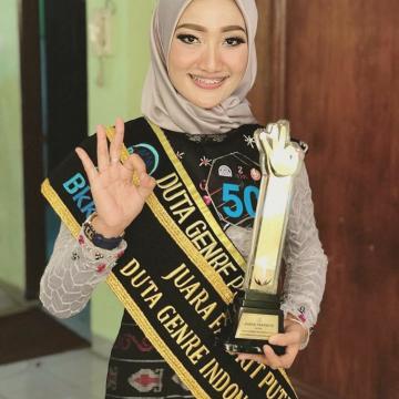 Febby Raih Juara Favorit Duta GenRE Nasional