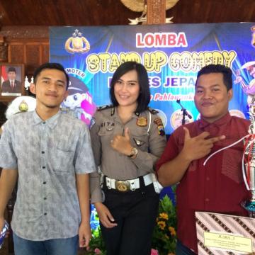 Stand Up Comedy Polres Jepara; Bazuri Juara 3, Andri Harapan 1
