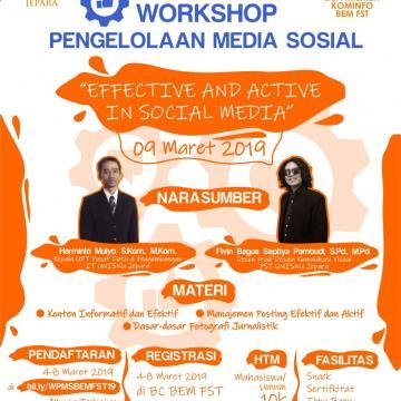 Workshop Pengelolaan Media Sosial Fakultas Sains dan Teknologi