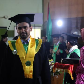 Unisnu Jepara Mewisuda Mahasiswa Asal Mesir