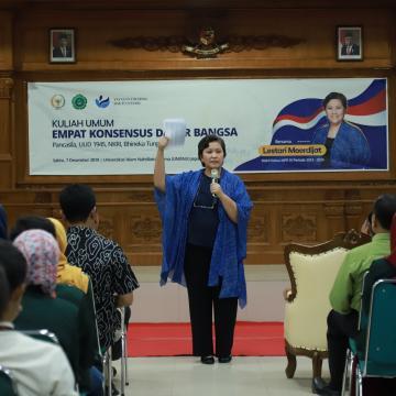 Unisnu Gelar Kuliah Umum Empat Pilar Kebangsaan bersama Lestari Moerdijat