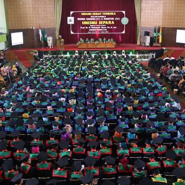 Undangan Gladi Bersih dan Daftar Peserta Wisuda ke-12 Unisnu Jepara TA 2018/2019