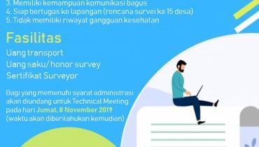 Lowongan Kerja : Surveyor Pemetaan Potensi Batik Jepara