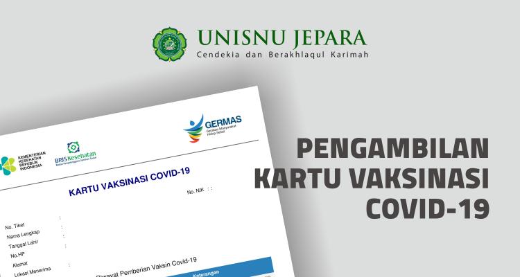 Pengambilan Kartu Vaksinasi Covid-19