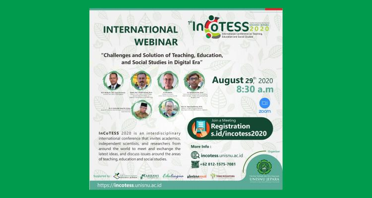 1st International Conference on Teaching Education and Social Studies (InCoTESS) 2020