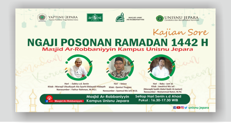 Kajian Sore Ngaji Posonan Ramadan 1442 H