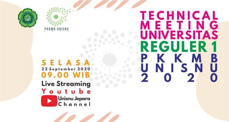 Technical Meeting Pengenalan Kehidupan Kampus bagi Mahasiswa Baru Tahun Akademik 2020/2021