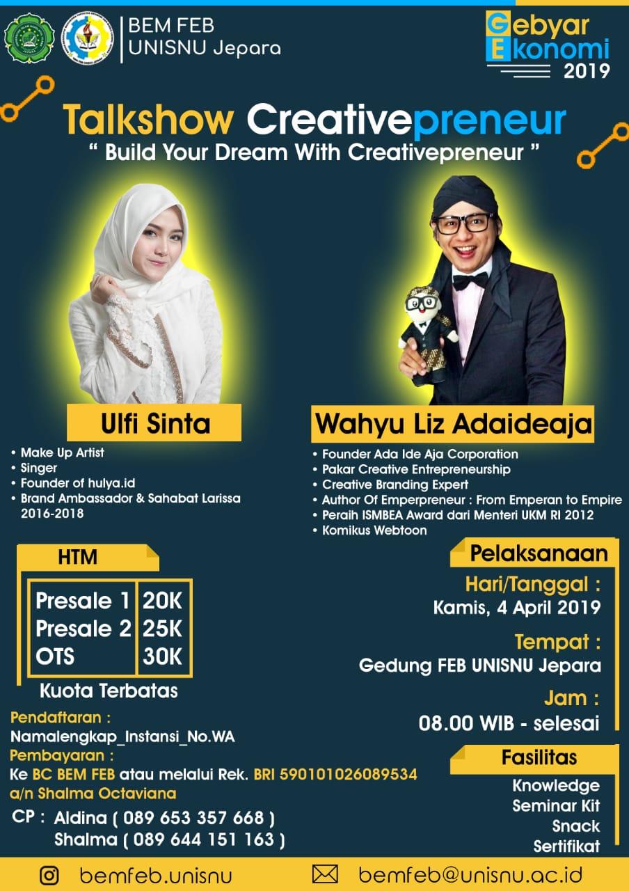 Talkshow Creativepreneur